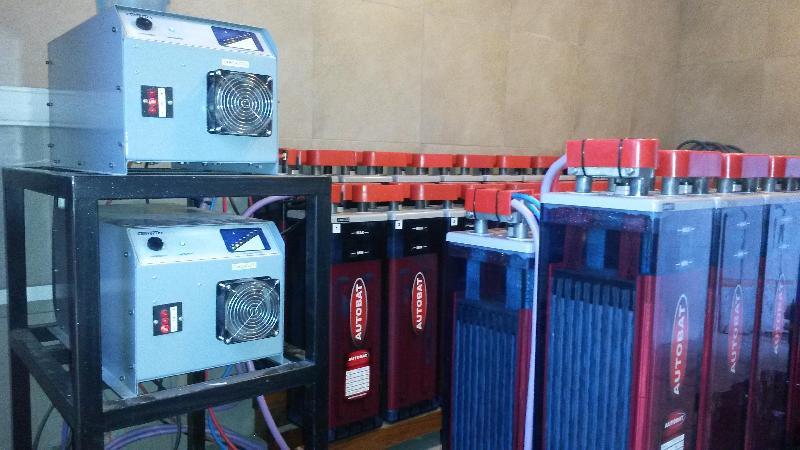 Banco baterias tubular 100kw y cargadores