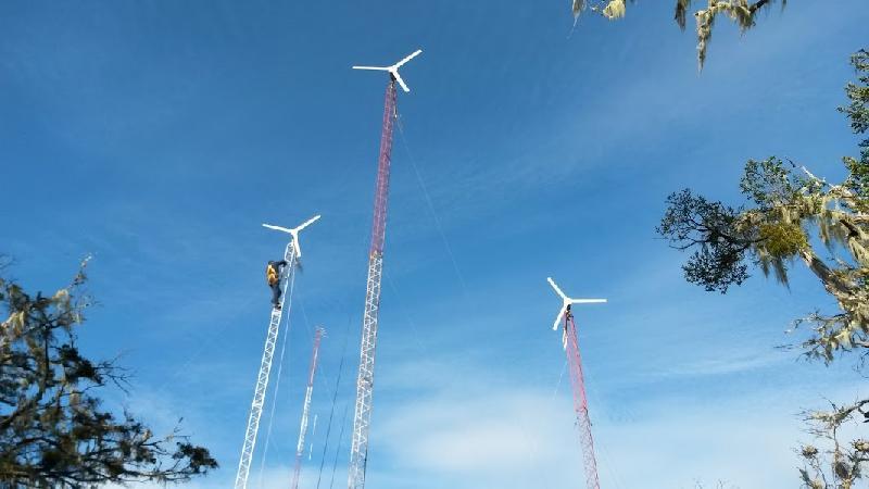 Instalación de eólicos